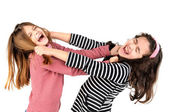 Girls fight — Stock Photo