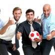 Soccer supporters — Stock Photo #23400708