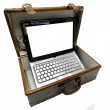 Old case with notebook — Stock Photo #23401544