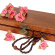 Wooden box with roses — Stock Photo #23402314