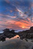 Sunset on the rocks. — Stock Photo