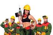 Workers team — Zdjęcie stockowe