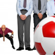 Soccer in the office - Foto de Stock