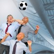 Soccer fans — Stock Photo
