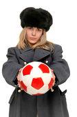Rosyjski piłkarz — Zdjęcie stockowe