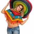 Stock Photo: Sombrero girl