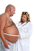Large male patient — Stock Photo