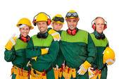 Arbeitermannschaft — Stockfoto