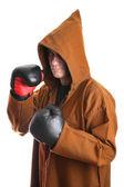 Rękawice bokserskie iwith mnich — Zdjęcie stockowe