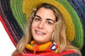 Sombrero girl — Стоковое фото