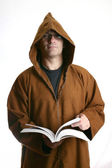 Monk reading a book — Stock Photo
