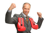 Victorious Businessman — Stock Photo