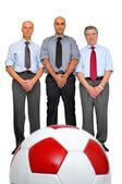 Piłka nożna w biurze — Zdjęcie stockowe