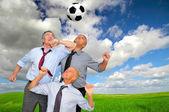 Fanáticos del fútbol — Foto de Stock