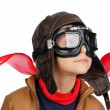 Stock Photo: Boy pilot