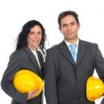 Engineers couple — Stock Photo