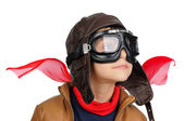 Boy pilot — Stock Photo