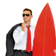 Business surfer — Stock Photo