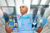 Hightech doctor — Stock Photo