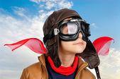 мальчик пилот — Стоковое фото