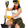 Sexy worker — Stock Photo