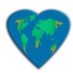 World map, heart shaped — Stock Photo #23567887