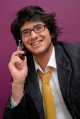 Young man on the phone — Stock Photo
