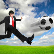 Football madness — Stock Photo