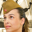Army girl - Stock Photo
