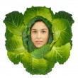 Royalty-Free Stock Photo: Cabbage girl