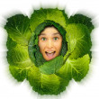 Cabbage girl — Stock Photo #23589013
