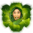 Cabbage girl — Stock Photo #23589019
