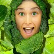 Cabbage girl — Stock Photo #23589049