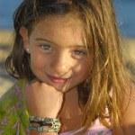 děti na pláži — 图库照片