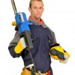 Worker in uniform — Stock Photo