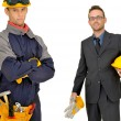 Builders team — Stockfoto