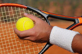 Tennis serve — Stock Photo