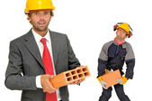 Builders team — Stock Photo