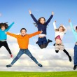 Children jumping — Stock Photo