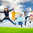 Children jumping — Stock Photo #26604459