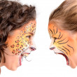Face painting, felines — Stock Photo #28141707