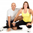 Fitness couple — Stockfoto