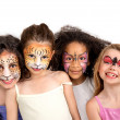 Face painting group — Stock Photo #30488857
