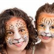 Face painting, felines — Stock Photo