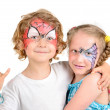 Face painting, spider web — Stock Photo #30488869