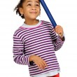 Child with big pencil — Stock Photo