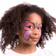 Face painting, butterfly — 图库照片