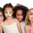 Stock Photo: Face painting group