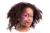 Face painting, butterfly — Stock Photo