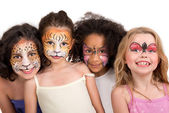 Face painting group — Stock Photo